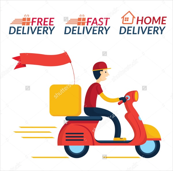 Fast Home Delivery Icons