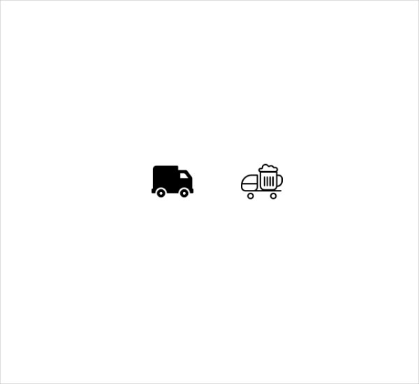2 Delivery Truck Icons