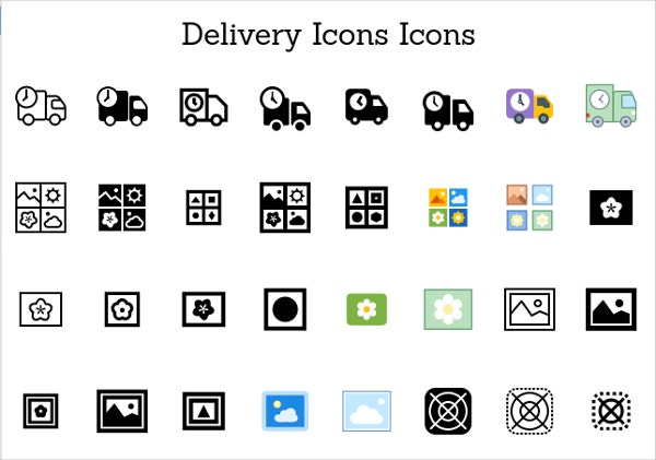 Truck Delivery Icons