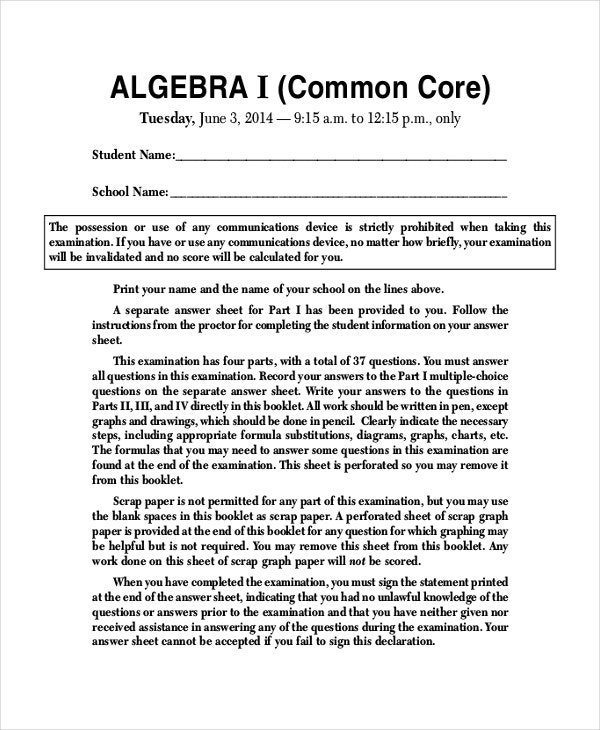 basic common core sheet template