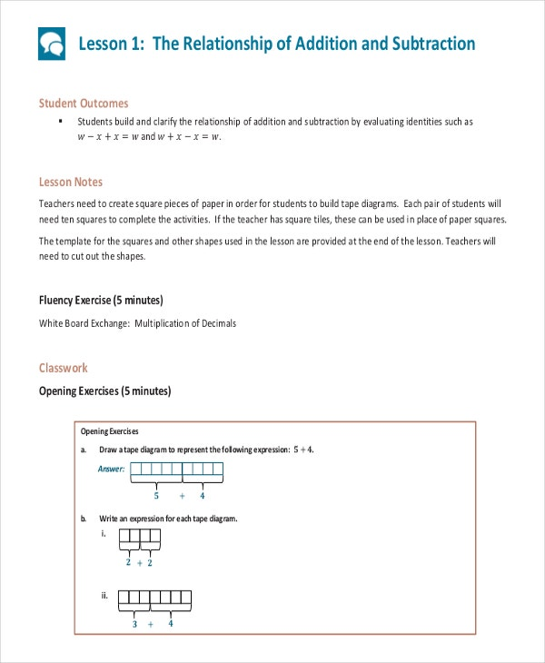 Common Core Math Sheet Template