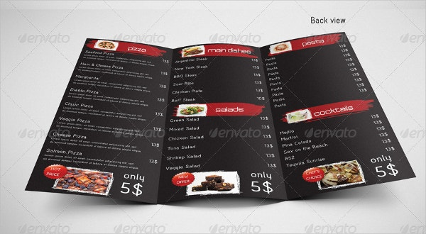 Trifold Takeaway Menu Template