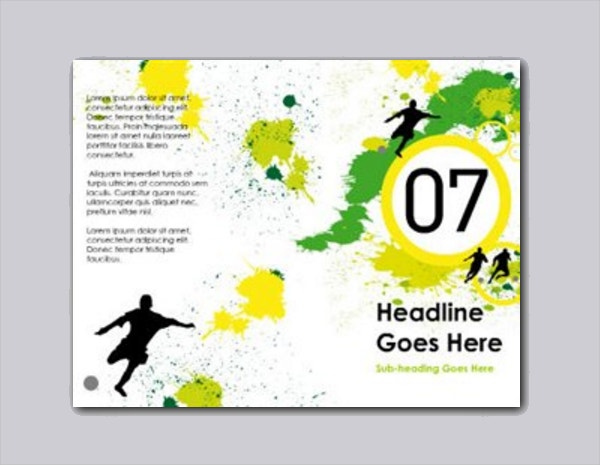Soccer Brochure Template