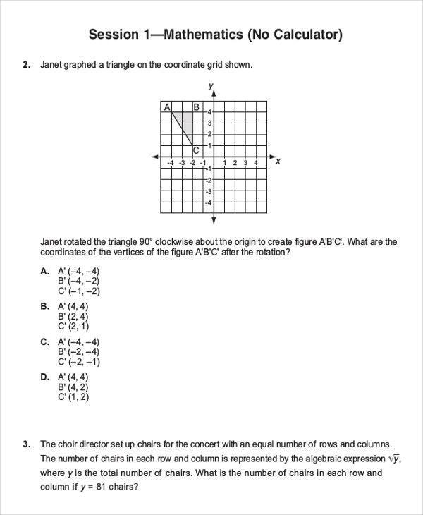 Common Core Practice Sheet Template