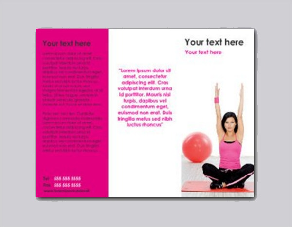 Exercise Ball Fitness Brochure Template