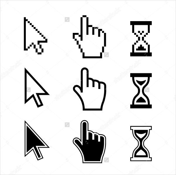Mouse Hand Arrow Hourglass Icon
