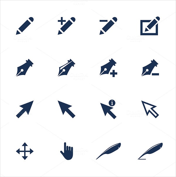 Linear Mouse Cursor Icons