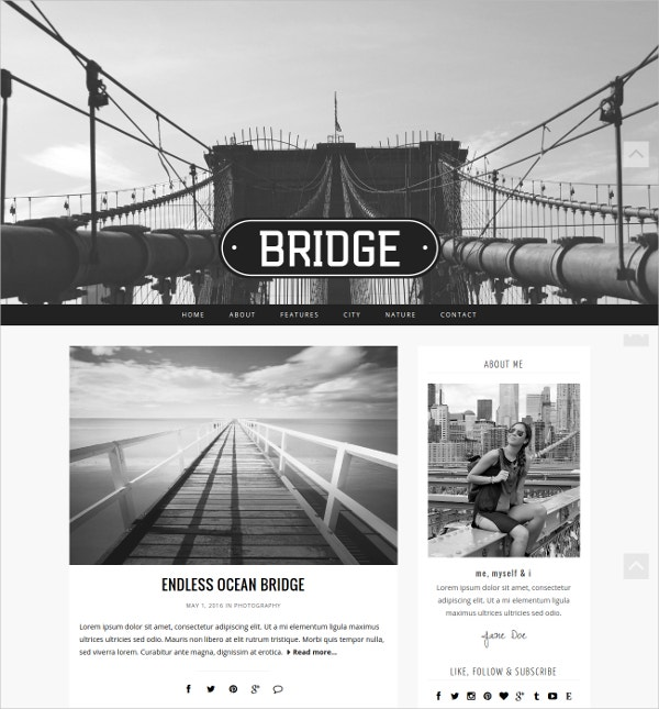 Photographer Modern WordPress Theme $45