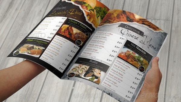 31  takeaway menu template