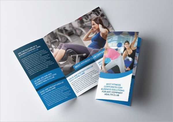 Gym Tri Fold Brochure Template