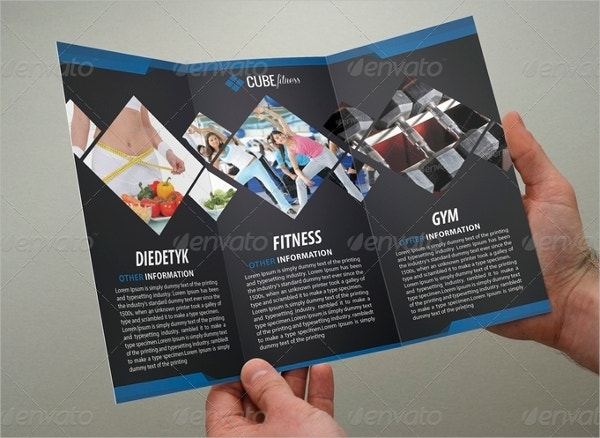 19 sports fitness brochure templates free psd ai for Gym brochure template