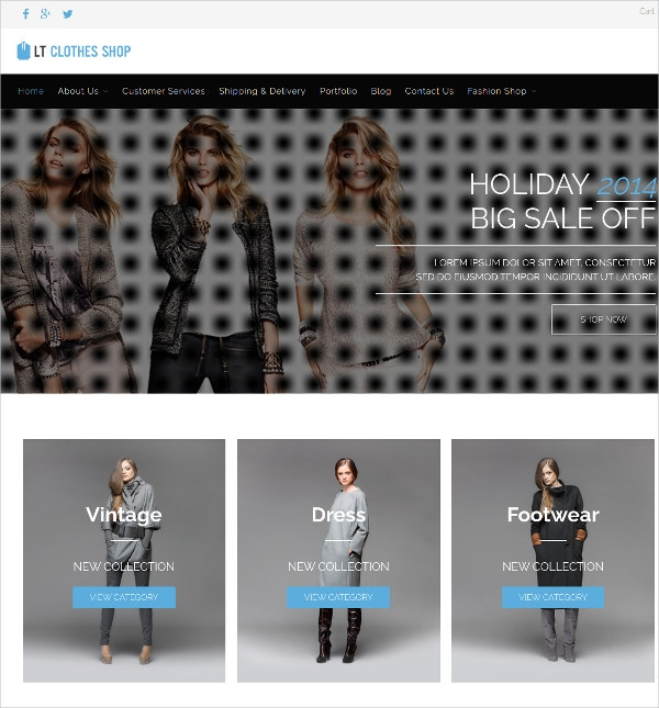 Fashion Clothes WordPress Theme $29
