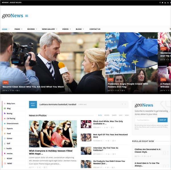 Modern Responsive Newspaper & Journal WP Theme $49
