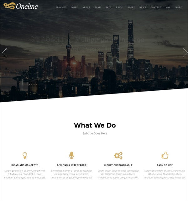 Multipurpose Services WordPress Theme $48