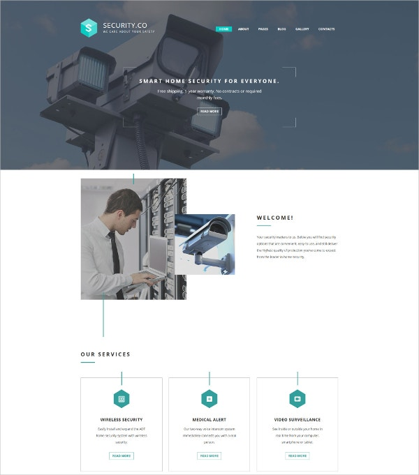 Premium Security System Joomla Template $75