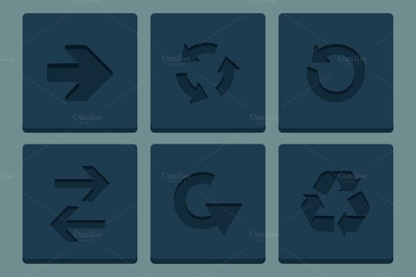 minimal arrow icons
