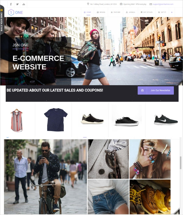 Joomla Design & Stylish eCommerce Template $58