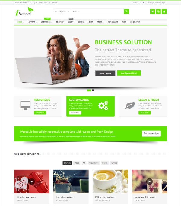 Online Shopping Virtuemart Joomla Template $48