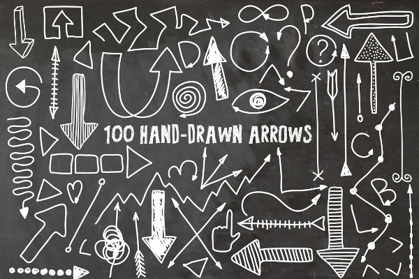 Hand Drawn Arrow Vector Icon