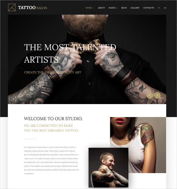Tattoo Salon & Artist Joomla Template $75