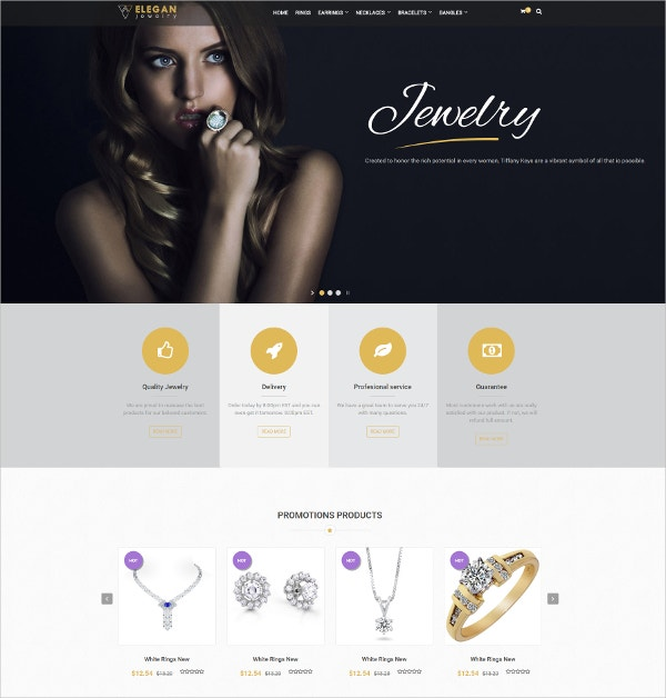 Responsive Design Jewelry Joomla Template $48