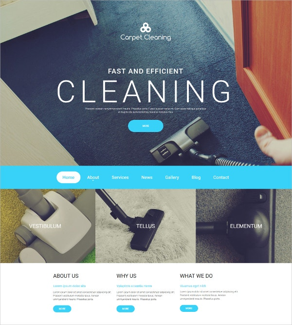 Carpet Cleaning HTML5 Moto CMS Template $199