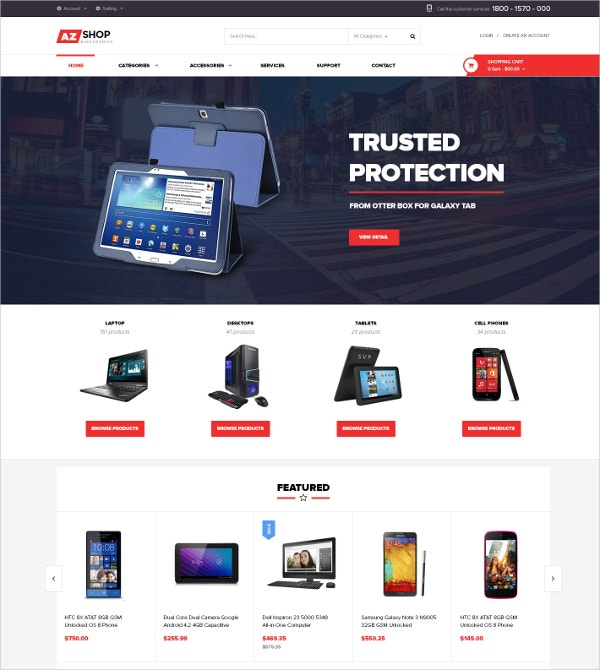 Electronics eCommerce HTML5 Shopify Theme $56