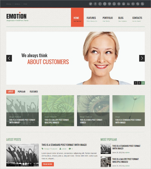 Personal HTML5 WordPress Theme $29