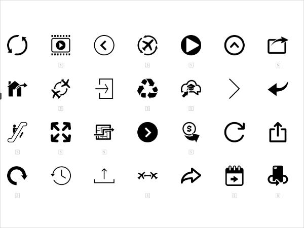 350 arrow icons