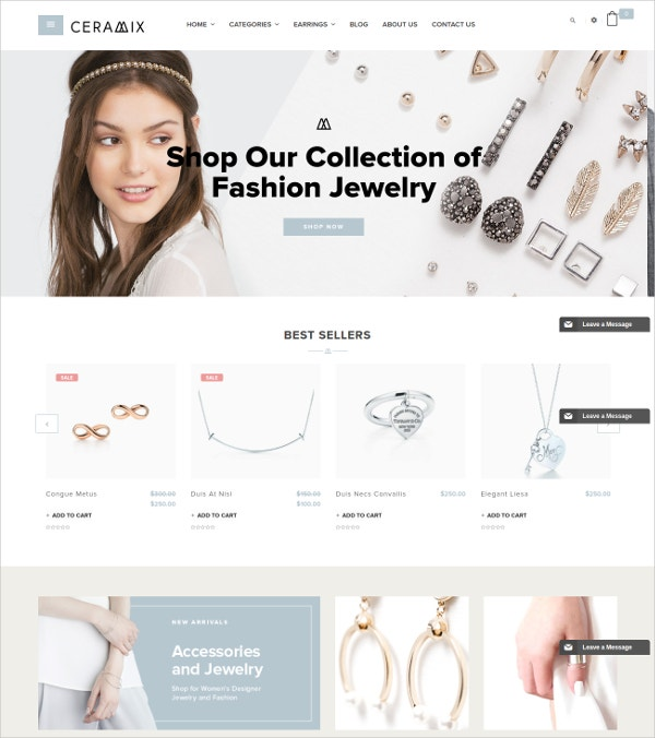 Fashion eCommerce HTML5 Shopify Theme $65