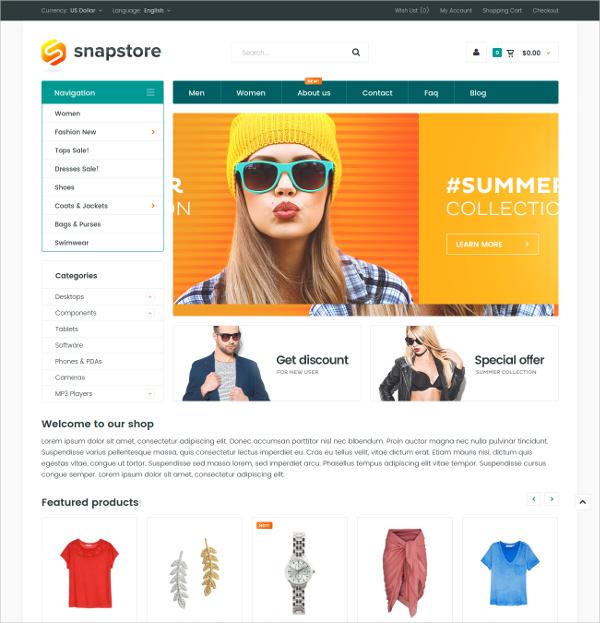 Premium OpenCart eCommerce HTML5 Theme $48