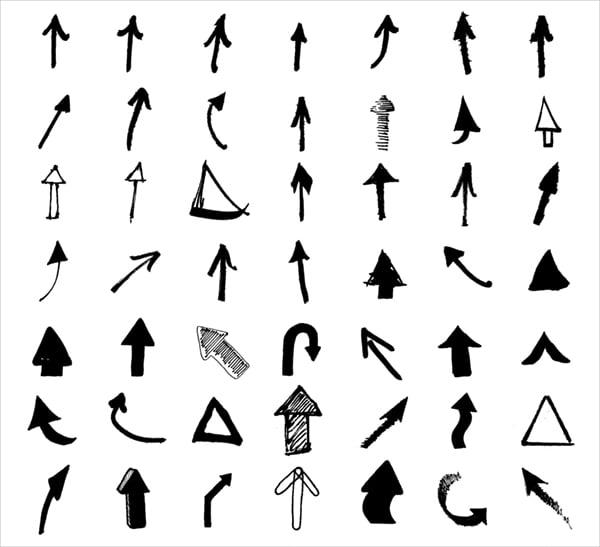 black white arrow icons