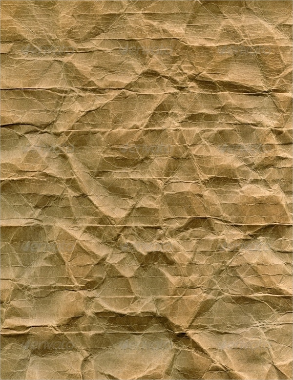 Brown Crumpled Paper Texture