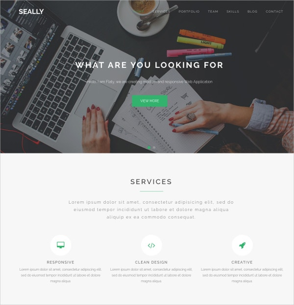 One Page Multipurpose HTML5 Theme $12
