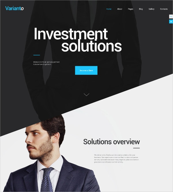 Investment Solutions HTML5 Template $75