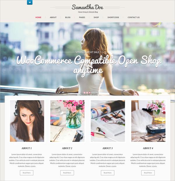 MInimalist Portfolio Women WP HTML5 Theme $48
