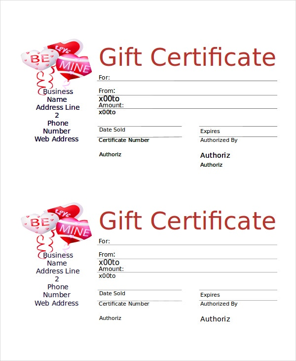 Word Gift Certificate Template Free