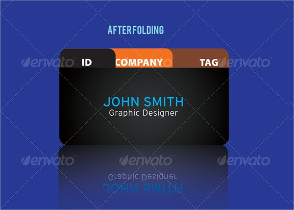 Die Cut Folded Business Card Template