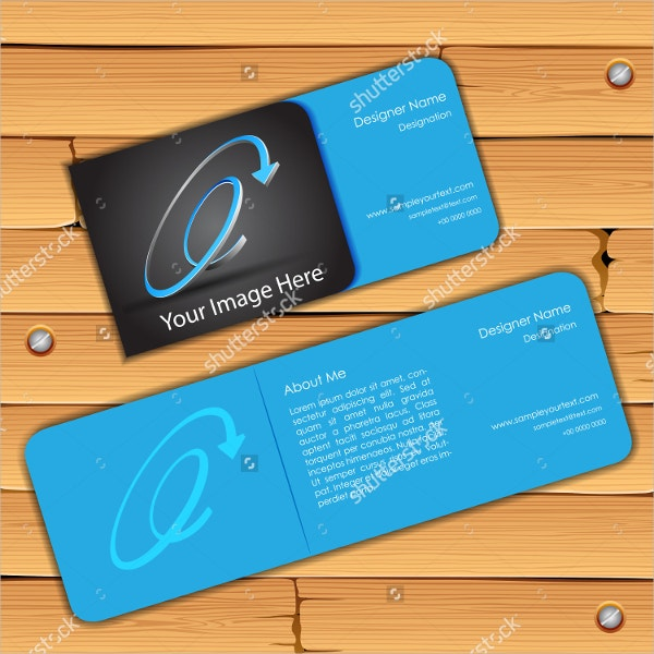 front and back colorful business card