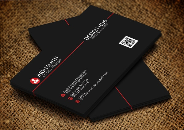 Folded Style Business Card Template