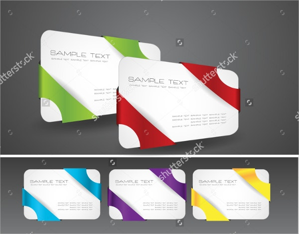 Modern Folded Business Card