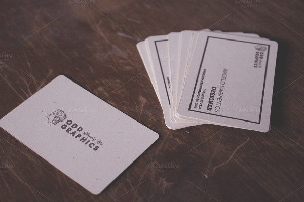 creative notebook business card template