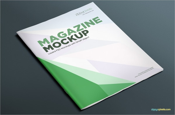 softcover magazine advertising mockup