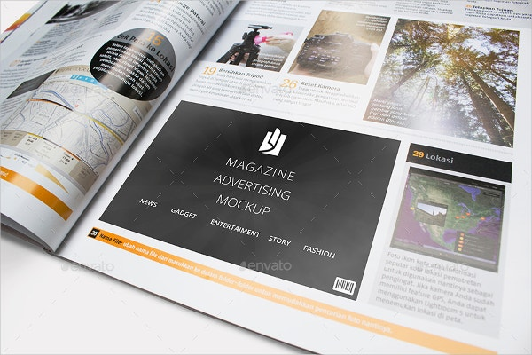Advertising Mockup for Photography Magazine