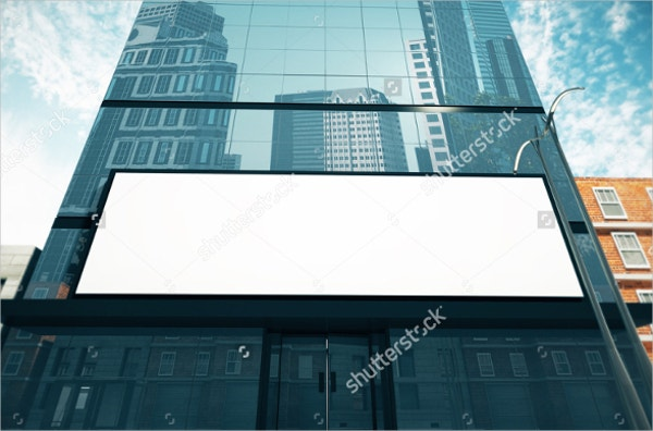 advertising mockup on business center wall1