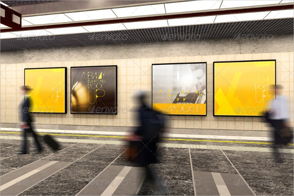 subway advertising mockup design
