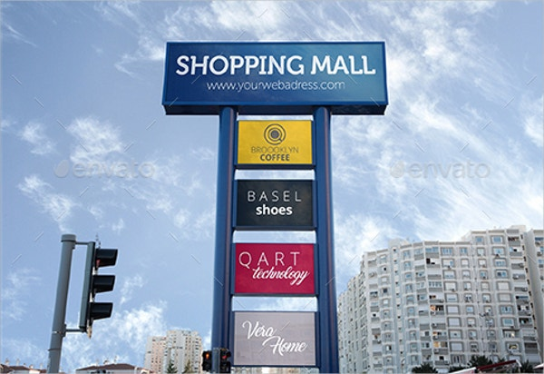Billboard Style Outdoor Advertising MockUp