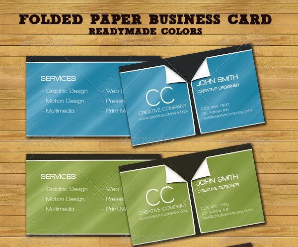 Folded Paper Business Card