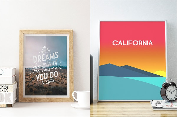 beautiful poster frame mockup set
