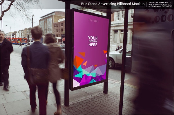 Elegant Bus Stand Advertising Mockup